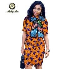 فساتين إفريقية لعام 2019 للنساء فستان قصير بياقة مدورة عتيق مطبوع عليه فيونكة للبنات بتصميم ضيق مناسب للبرايم فقط S1925028