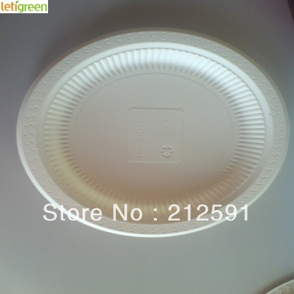 Sustainable Cornstarch Disposable Buffet Plates Quality Plastic Candy Dishes Biodegradable Sushi Plate 9 inch Three Compartment & Sustainable Cornstarch Disposable Buffet Plates Quality Plastic ...
