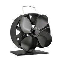 New Round 4 Blades Heat Powered Stove Fan Fuel Saving Aluminum Stove Fan Premium Stove Fan