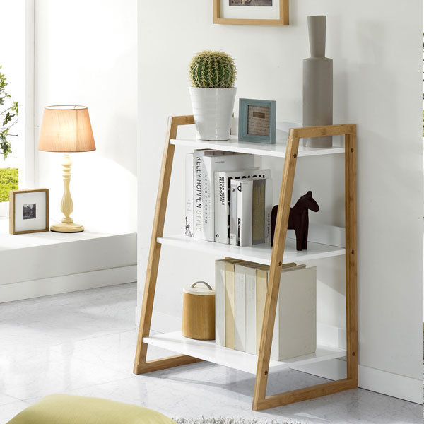 Furniture Perumahan Kayu Rak Buku Kombinasi Rak Lantai