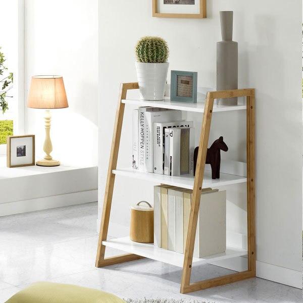 Residential Furniture Wood Shelf Bookcase Combination Bamboo Floor Home  Office Creative Fashion Minimalist Ikea