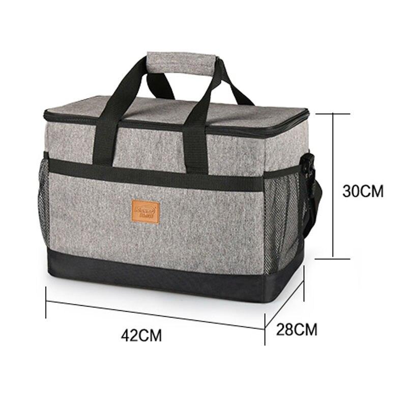 KinNet picnic cooler bag 33L large capacity square thermal lunch bags handbag bag refrigerator of car aluminum foil thermal bags