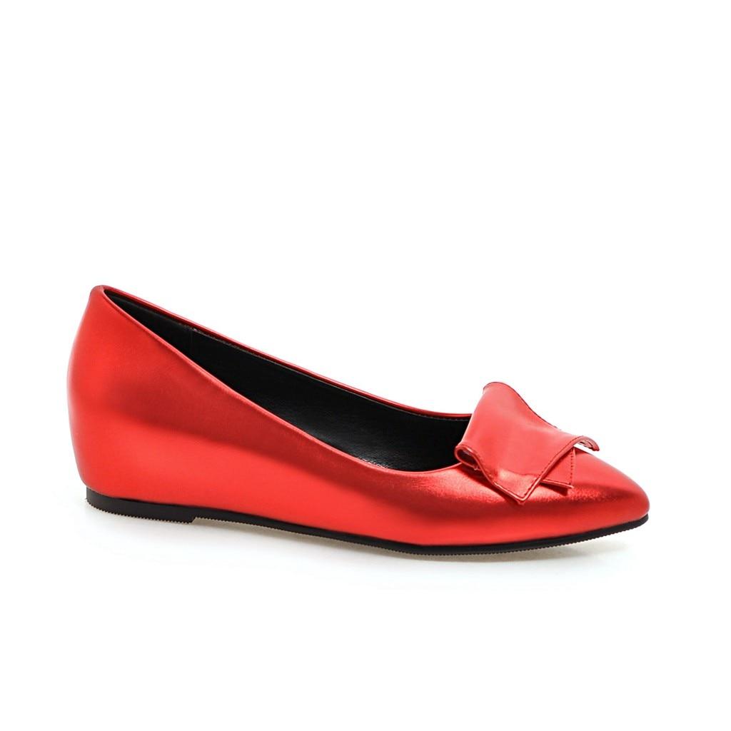 Casual Plates De Nouveau Femmes Gris rouge Bout 2018 Pointu argent Ballerines D'été Appartements Mocassins Chaussures Sring Ballerine PtHtgq