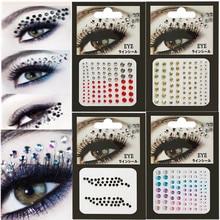 1 шт 3D сексуальные хрустальные драгоценные камни временные DIY алмазные глаза праздничные вечерние инструменты для макияжа Блестящая декоративная наклейка для макияжа