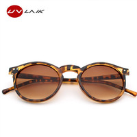 UVLAIK Cat Eye Round Mercury Sunglasses Women Men Brand Designer Mirrored Sun Glasses Anti-reflective UV400 Goggles