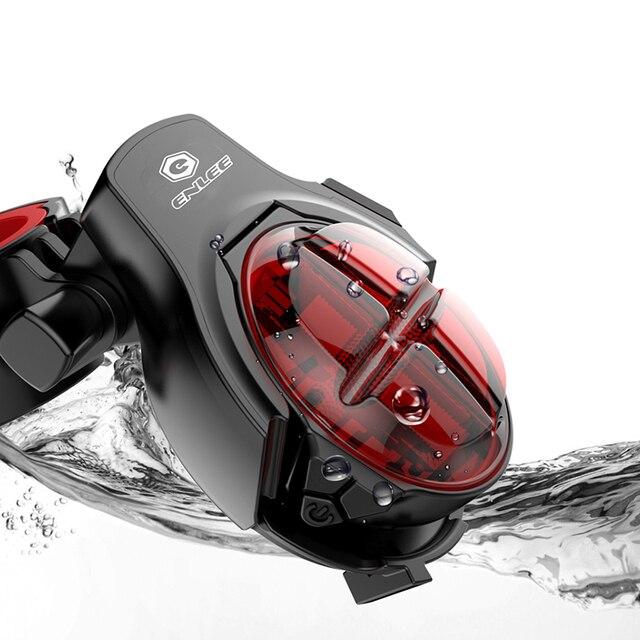 RICHBIT Ультра-яркий беспроводной задний фонарь для велосипеда, задний фонарь, Смарт USB Перезаряжаемый, аксессуары для велоспорта, регулируемый задний фонарь