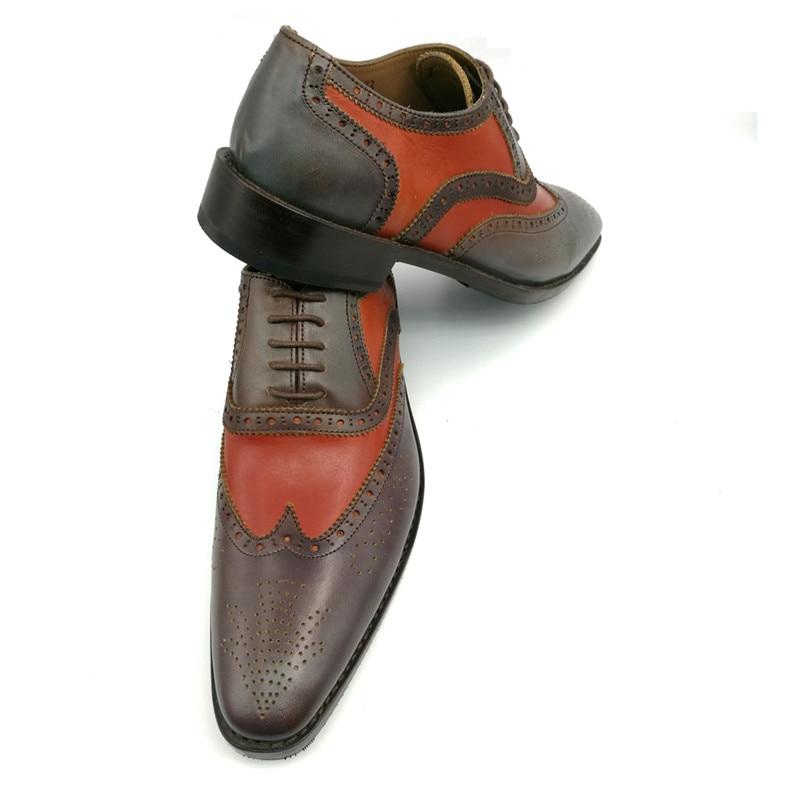 Hombres Genuino Para Descuento Handcraft Goodyear Promoción Precio Bajo Vender Zapatos Multiple Cuero 1qqwFx