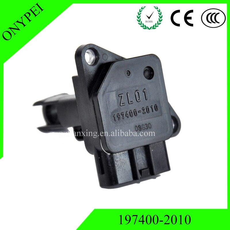 High Quality 197400-2010 ZL01 Mass Air Flow Meter Sensor For Mazda 3 BK 5 CR19 GG GY 6 MVP LW 197400 2010 1974002010