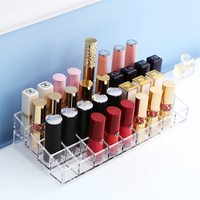 36 Células labiales tamaño grande titular de lápiz labial contenedor organizador de maquillaje barras de labios caja organizador baño C201