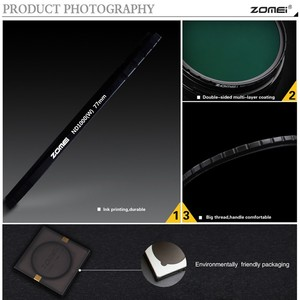 Image 4 - ZOMEI Optical Glass 10 STOP 52/58/67/72/77/82MM Ultra Slim HD Multi coated Neutral Density ND1000 filter for SLR DSLR camera