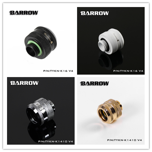"4pcs Barrow Black ,silver ,white ,gold G1/4"" 12mm/14mm/16mm Hard tube hand compression fittings,upgrade,seller highly recommend"