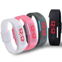 Cindiry New Charming Wristwatches Unisex Men's Women's Silicone Red LED Sports Bracelet Touch Digital Wrist Watch P20