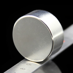 1 шт. Сильный круглый диаметр 40 мм x 20 мм N35 редкоземельный неодимовый магнит художественный ремесленный холодильник 40x20 мм