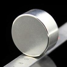 1 шт. Сильный Круглый Диаметр 40 мм х 20 мм N35 Редкоземельных Неодимовый Магнит Искусства Ремесло Холодильник бесплатная доставка