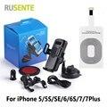 Бесплатная доставка 360 автомобильный держатель зарядное устройство QI беспроводной зарядки рецептор приемником площадкой для iPhone 5 5S 5C 6 6 S плюс