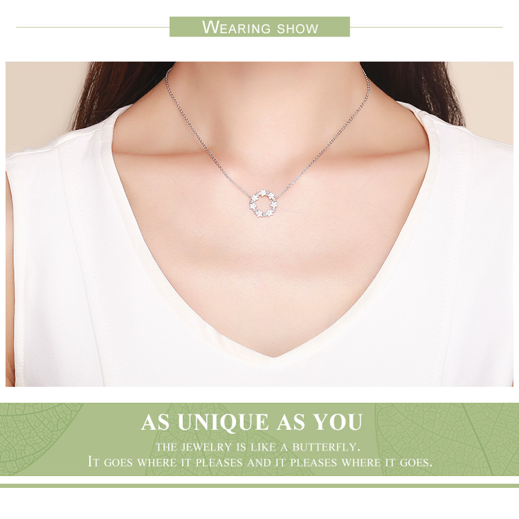HTB12o8vbsnrK1RjSspkq6yuvXXaJ BAMOER Elegant 925 Sterling Silver Shining Stackable Star Round Shape Pendants Necklaces Women Wedding Jewelry Collar BSN028