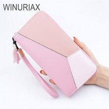 Winuriax walet Luxury Women wallet PU leather long wallets Female zipper Clutch Coin Purse Ladies Wristlet big capacity wallet