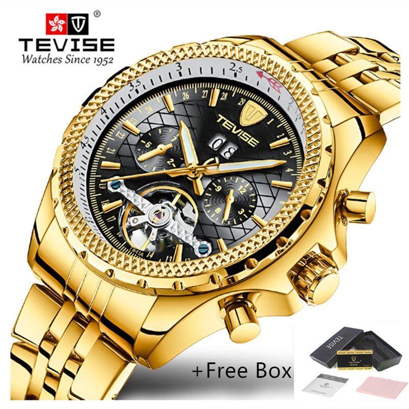 mens watches top brand luxury TEVISE Automatic Winding Tourbillon Mechanical Watch Waterproof Sport Military Mens Wristwatch tourbillon business mens watches top brand luxury shockproof waterproof skeleton watch men mechanical automatic wristwatch