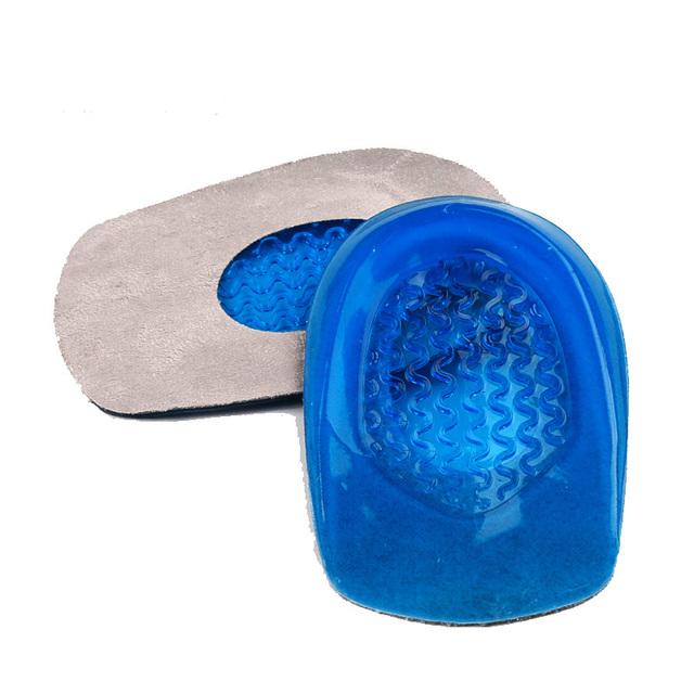 Silicone almofada do Calcanhar Palmilhas de Absorção de Choque Para A Fascite plantar Almofadas de Salto Copo Acessórios inserção de Apoio Almofada Do Pé de Sapato