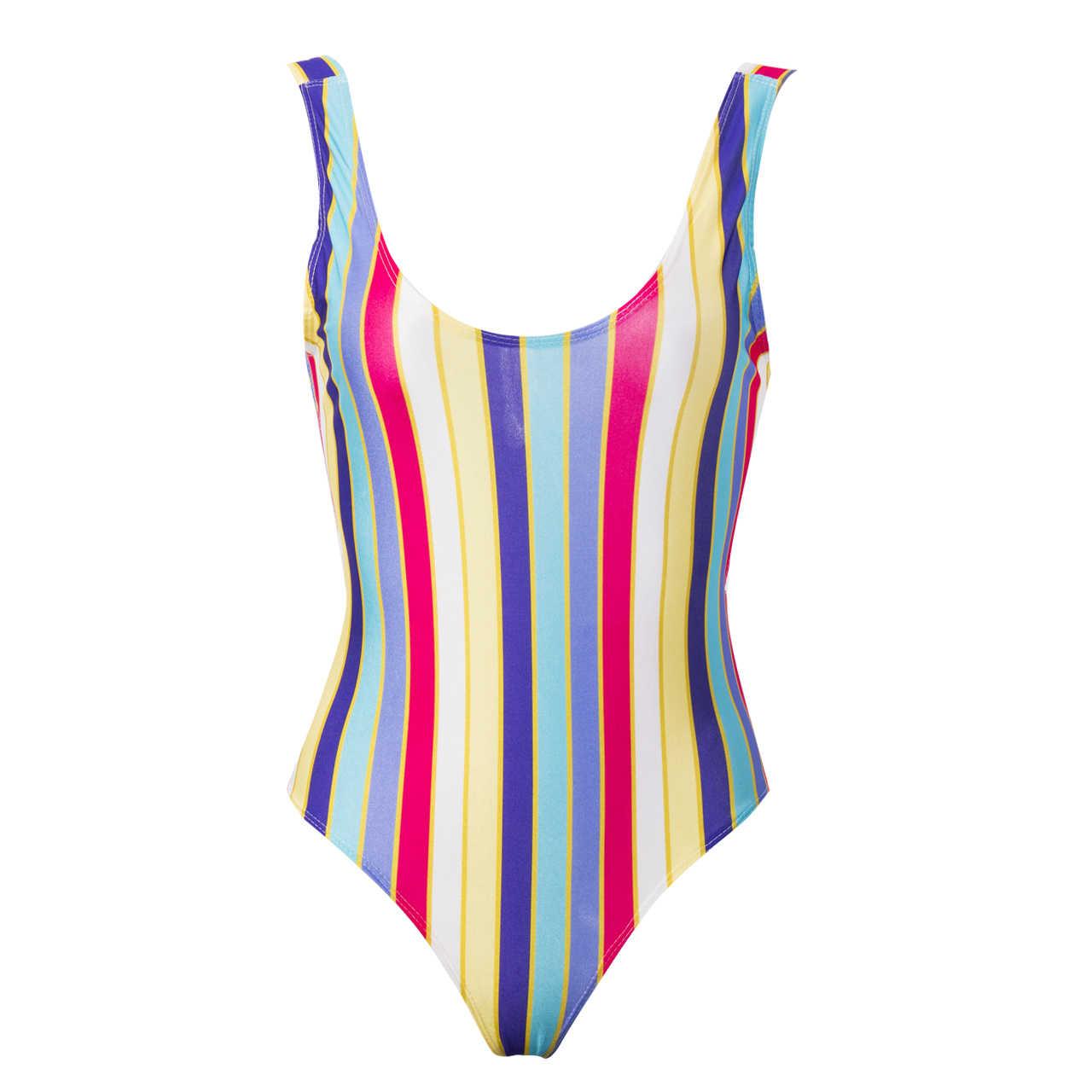 Detail Feedback Questions about USA STOCK Women Swimwear Striped ... eb83fbb3e