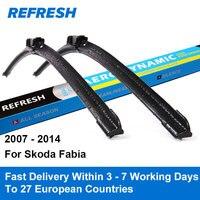 Car Wiper Blade For Skoda Fabia 21 21 Rubber Bracketless Windscreen Wiper Blades Wiper Car Accessories