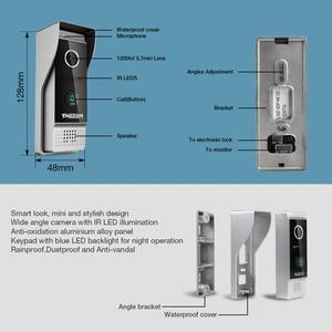Image 2 - TMEZON 유선 Doorbell 비디오 실외 장치 1200TVL (Tmezon IP 7 인치 인터콤 모니터와 함께 작동해야하며 혼자 작동 할 수 없습니다)