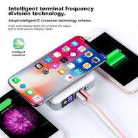 PortableTravel Mobile Phone Battery Charger External Dual USB Wireless Fast Charging 6700mAh Mobile Power for iPhone Millet