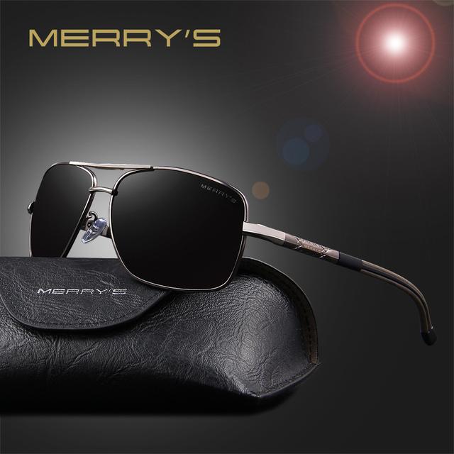Merry's new óculos de sol polaroid homens polarizados condução 2017 óculos de sol óculos masculino óculos de sol óculos shades oculos de sol s'8714