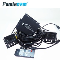 T780 2CH видеомагнитофон с 2 шт. 1080 P AHD камера, система видеонаблюдения автомобильный Мобильный DVR комплекты мини автомобиль DVR