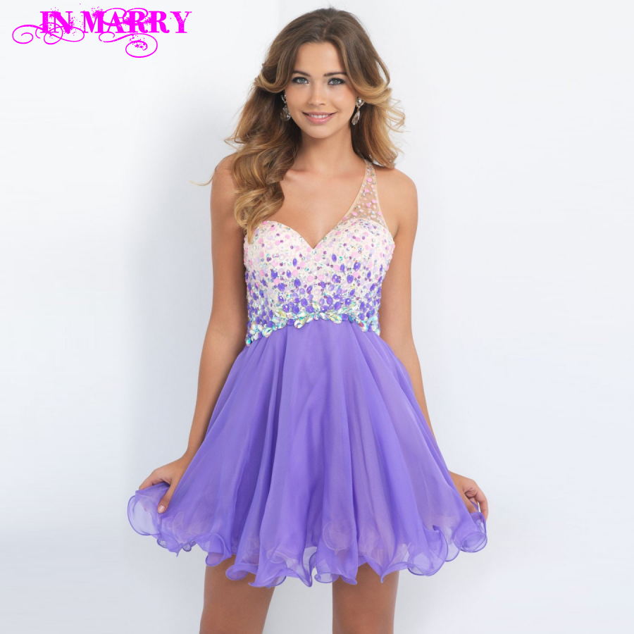 Popular Purple Prom Dresses Short-Buy Cheap Purple Prom Dresses ...