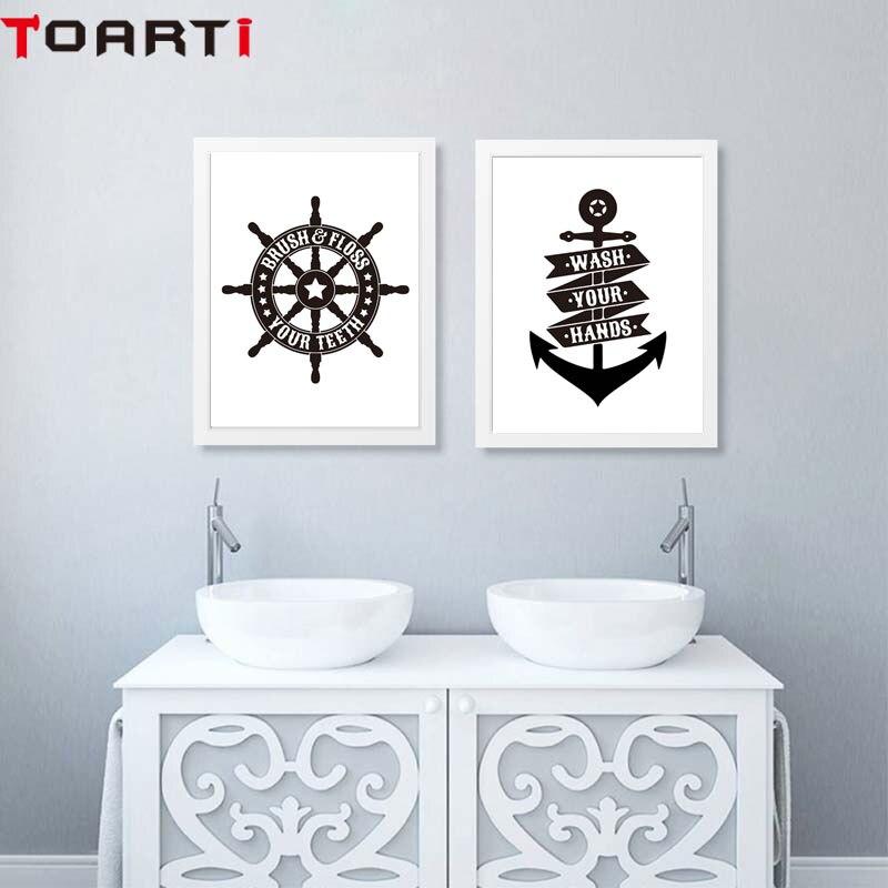 Bathroom printable art canvas posters and prints nautical ship wheel