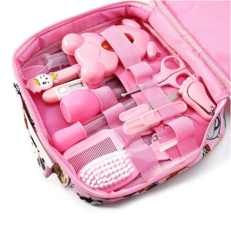 Learning Education Toys Pretend Play Newborn Baby Kids Nail Hair Health Care Thermometer Grooming Brush Kit For Girl Princess