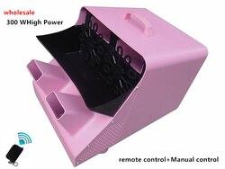 Hurtownie wysokiej jakości na ślub/Party/KTV duże podwójne maszyna do baniek mydlanych etap efekt świetlny maszyny za pomocą pilota zdalnego sterowania