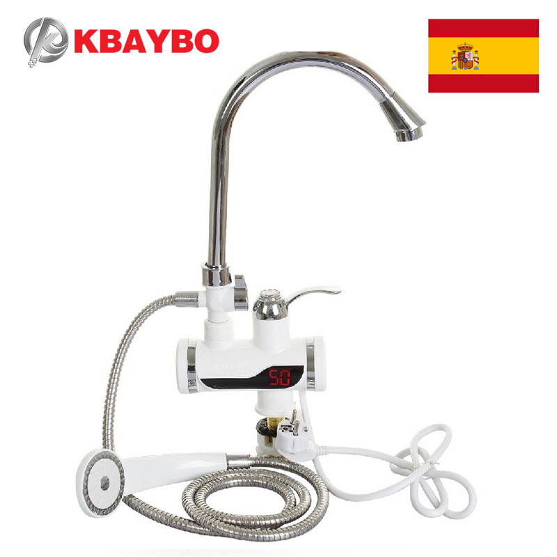3000W Electric Instant Water Heater Tap Shower Hot Faucet Ki