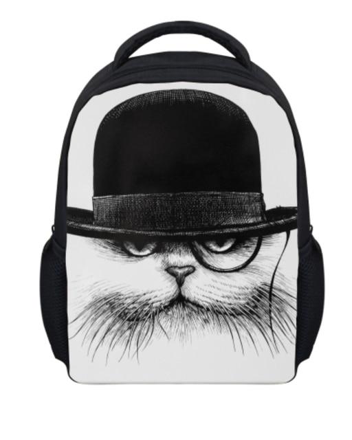 Kawaii Cat Print Girls School Bags Children Bookbag Small Kids Kindergarten Baby Schoolbags Boys Gift Animal Mochila Feminina