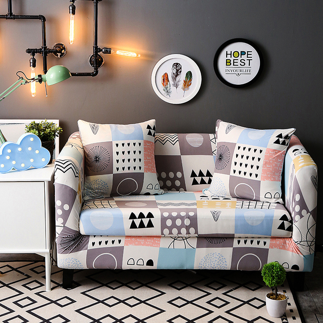 Printed Sofa Covers Slipcovers One Piece Elastic Cover Furniture