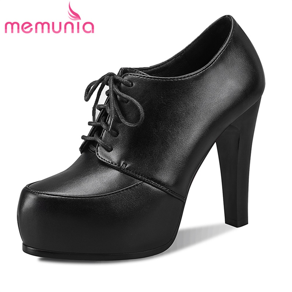MEMUNIA spring autumn pumps women shoes super high heels office simple high heels round toe fashion popular dress shoes egonery shoes 2017 spring and autumn concise wedges butterfly knot pumps simple lace up sweet round toe women fashion high heels