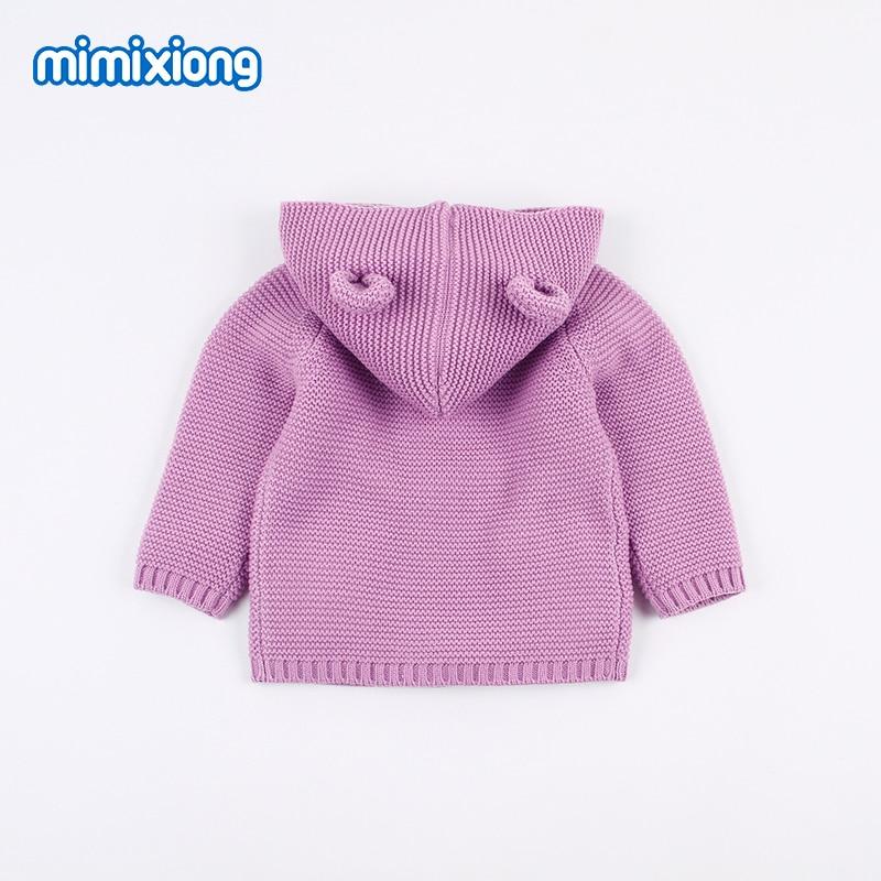 Suéter de los niños abrigos con oreja de oso de dibujos animados de punto  bebé recién nacido niñas Jerséis 442855098f8b