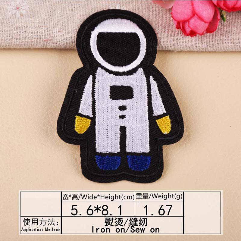 1Pcs นักบินอวกาศจรวด Planet เย็บปักถักร้อย Patch การถ่ายเทความร้อนเหล็กบนเย็บบนแพทช์สำหรับเสื้อผ้าสติกเกอร์ตกแต่ง Applique 47276