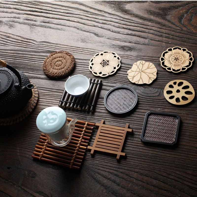 -Desain Diam-diam Elegan Coaster Cina Teaism Cangkir Tikar Meja Teh Dekoratif Piala Pad untuk Cangkir Teh Upacara Minum Teh perlengkapan