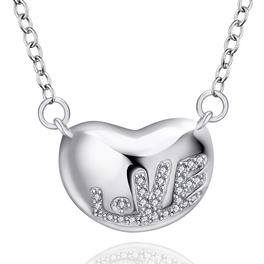 Trendy Heart Chain Necklaces Women Fashion Black Jewelry Necklaces /& Pendants DE