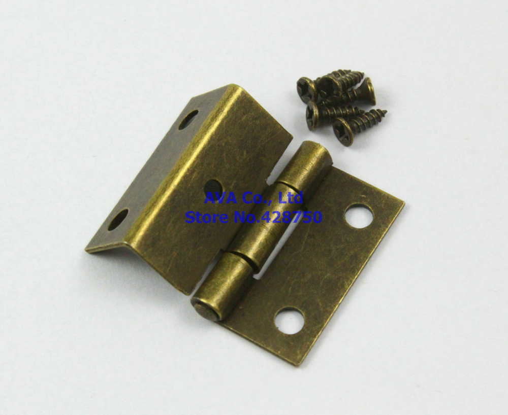 40 Antique Brass Jewelry Box Hinge Small Hinge 25x24mm with Screws arrylinfashion british fashion all match ankle boots top leather autumn botas femininas pointed toe charming thin high heels