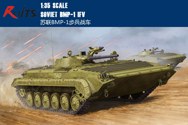 RealTS Trumpeter model 05555 1/35 Soviet BMP-1 IFV plastic model kit limit discounts trumpeter model 1 35 scale military models 01019 soviet 9p117m1 launcher w 9k72 missile elbrus model kit