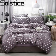 Solstice Stylish Grey Dot Style Comforter Bedding Sets 3/4pcs Bedclothes Sets Bed Linings Duvet Cover Bed Sheet Pillowcases