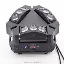 New Arrival CREE MINI LED 9x10W Led Spider Light RGBW 16/48CH DMX Stage Lights Dj Led Spider Moving Head Beam Light