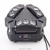 New Arrival CREE MINI LED 9x10W Led Spider Light RGBW 9 43CH DMX Stage Lights Dj
