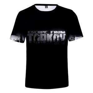 Aikooki nowe ucieczka z Tarkov 3D T Shirt mężczyźni/kobiety moda lato Harajuku T-shirt 3D druku ucieczka z Tarkov męska T shirt