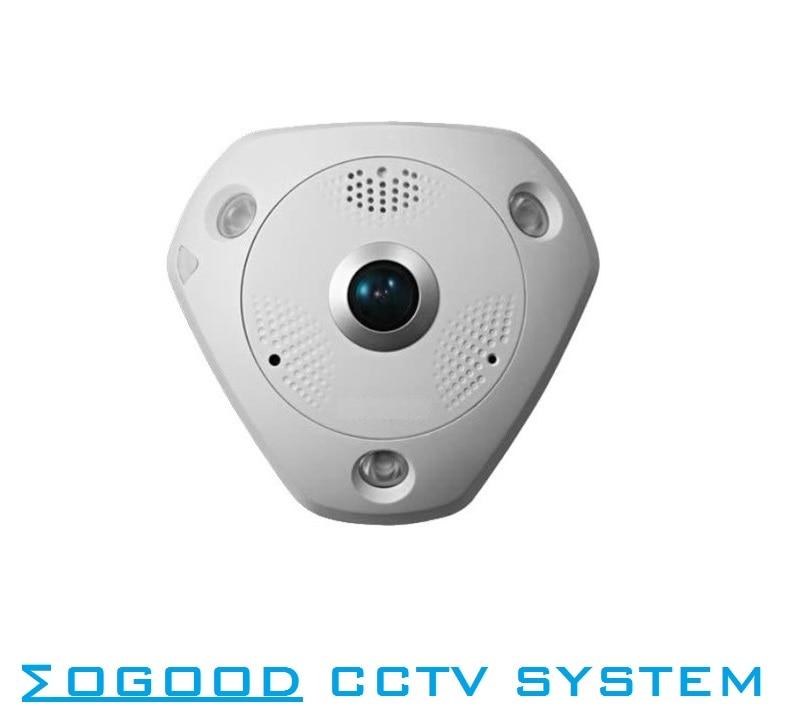 Hikvision International Version DS-2CD63C2F-IVS 12MP Fisheye View Outdoor Waterproof IP Camera Support EZVIZ  SD Card PoE IR 15M