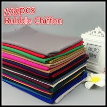 H5 Hoge Kwaliteit Vlakte Bubble Chiffon Sjaals Hoofdbanden Populaire Hijab Zomer Moslim Sjaals 100 stks/partij