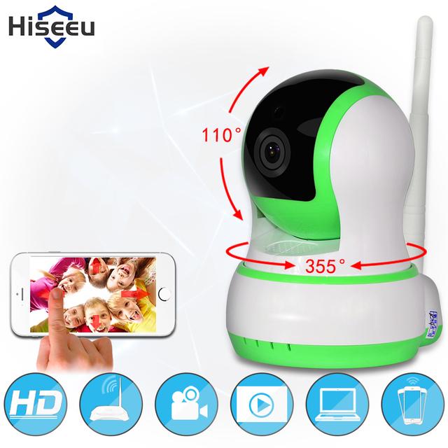 Câmera IP Sem Fio Wi-Fi câmera de Rede wi-fi HD Cartão TF registro de segurança cctv camera night vision hiseeu defensor 720 p h.264 FH5
